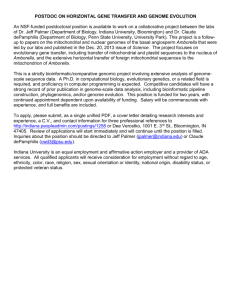 Postdoc on HGT & genome evolution in plants – Jeff Palmer