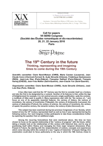 CFP VII Congress SERD - The British Society for Literature and
