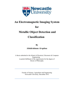An Electromagnetic Imaging System for Metallic Object Detection