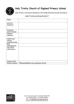 Roof Fundraising idea form