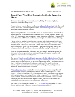 Transforming Wood Heat Press Release