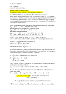 Notes 11SL Unit 1 Algebra Lesson 3