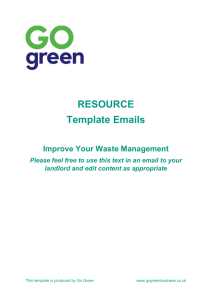 Template Email To Landlord About Waste Collection