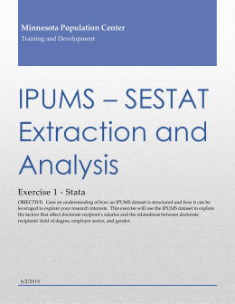 IPUMS * SESTAT Extraction and Analysis