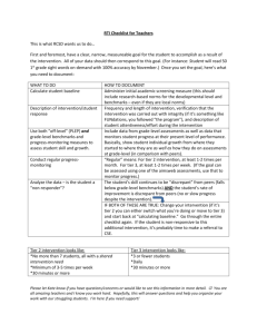 RTI Checklist for Teachers