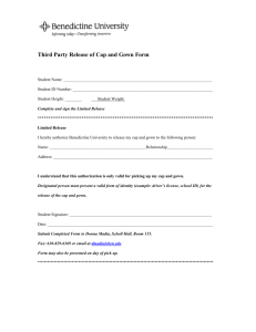 Third Party Release of Cap and Gown Form