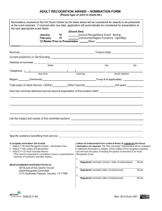 F-54 Adult Recognition Award - Nomination Form