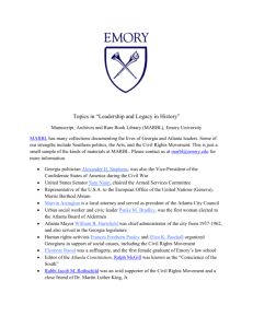 "Topics in ""Leadership and Legacy in History"" Manuscript, Archives"