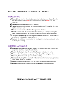 building emergency coordinator checklist in case of fire