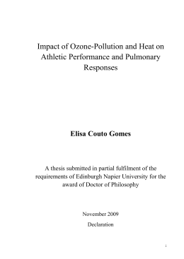 Impact of Ozone-Pollution and Heat on Athletic Performance and