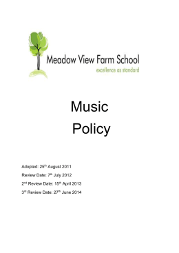 Music Policy - Meadow View Farm School