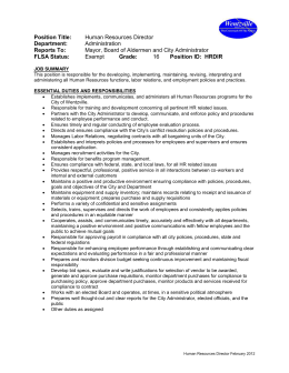 Maintenance Worker II Job Description. Human Resources Specialist Job  Description