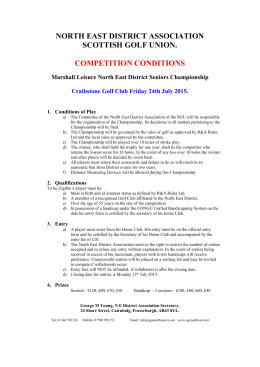 N E Seniors Entry conditions 2015