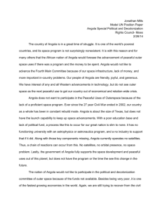 Angola Fourth Main Committee: Peaceful Uses of Outerspace (Mills