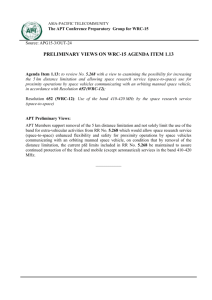 preliminary views on WRC-15 agenda item 1.13 - Asia