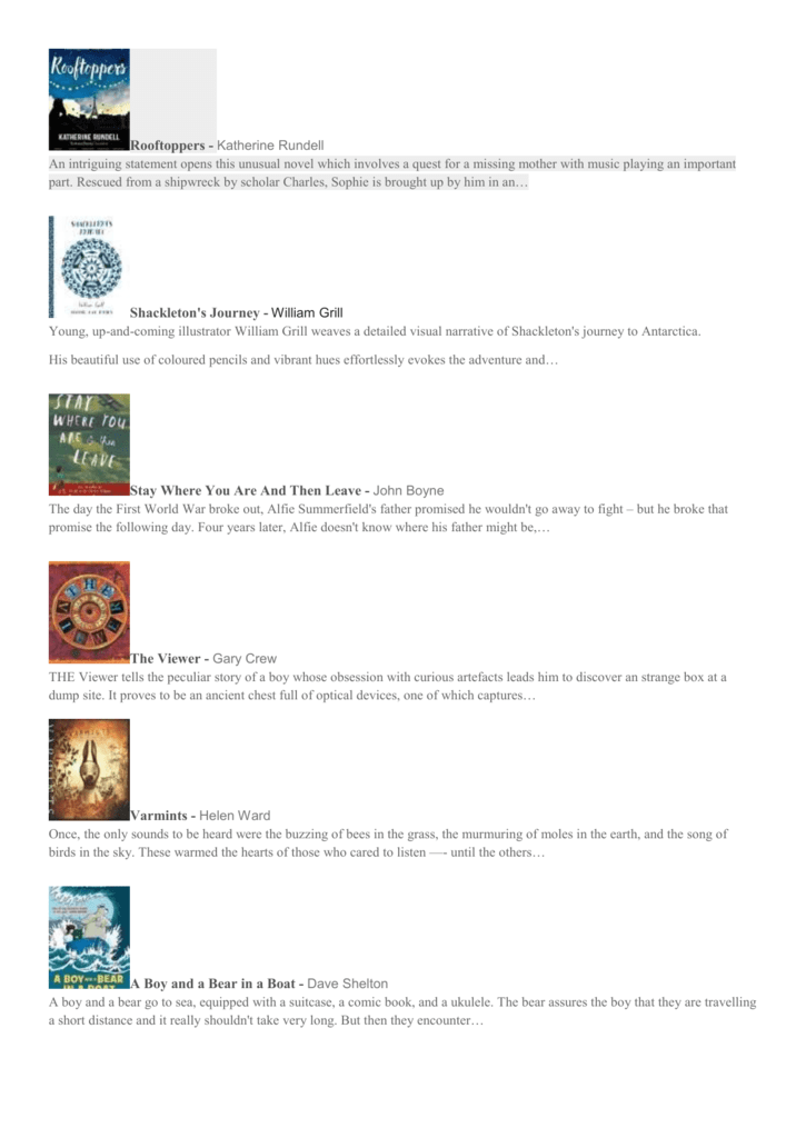 reading list - Christ Church CE Primary School Barnet