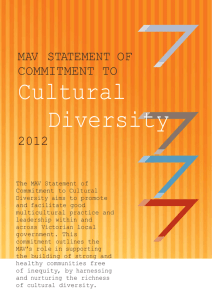 MAV STATEMENT OF COMMITMENT TO Cultural Diversity