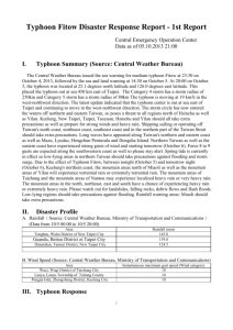 Typhoon Fitow Disaster Response Report