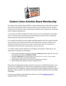 New Membership Application - Student Union Activities Board