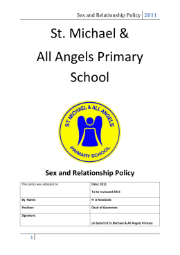 Sex and Relationship Policy - St Michael and All Angels Website