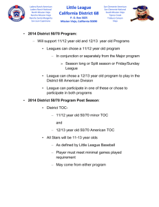 2014 District 50/70 Program Post Season