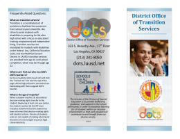 DOTS Informational Brochure (English)