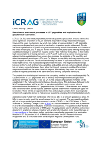 iCRAG PhD Tp1.2PhD4 Rare element enrichment processes in LCT