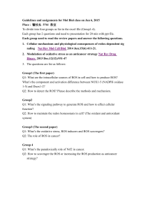 Guidelines and assignments for Mol Biol class on Jan 6, 2015 Place