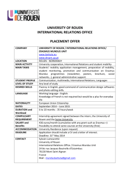 university of rouen international relations office placement offer