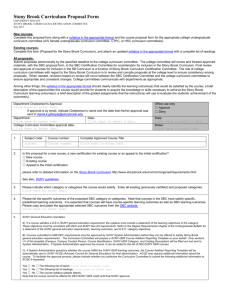 SBC proposal form - Stony Brook University