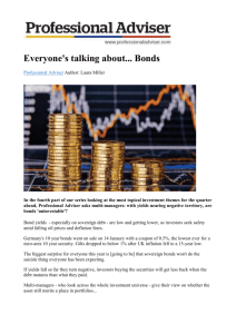 Everyone`s Talking About . Bonds