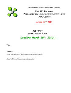 poster abstract form - Philadelphia Organic Chemists` Club