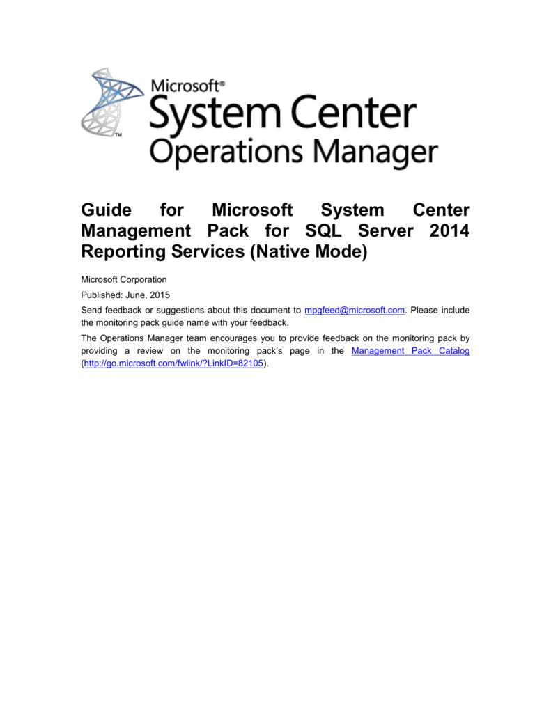SSRS2014MPGuide - Center