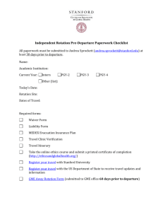 Independent Rotation Pre-Departure Paperwork Checklist