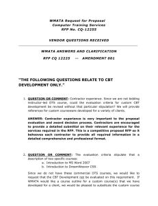 Amendment 001 WMATA Reply to Vendor Written Questions for