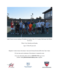 Adult Tennis Classes and Drills - Tennis Lessons Fort Worth TX 76112