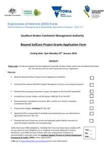 Beyond SoilCare Project Grants Application Form