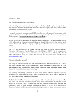 Letter 1: November 10, 2014 - NJ BOE adoption of Common Core