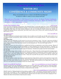 conference & community night