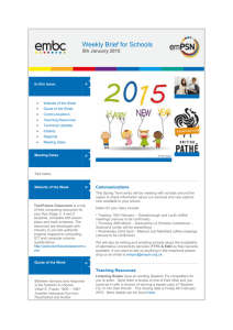 embc Weekly Brief for Schools 5th January 2015
