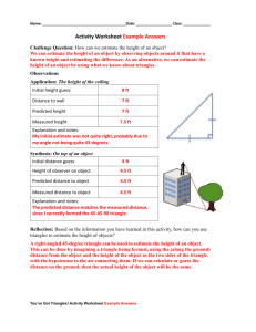 Triangles Activity Worksheet Example Answers