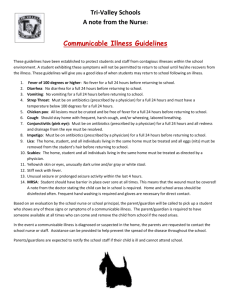 Communicable Illness Guidelines - Tri