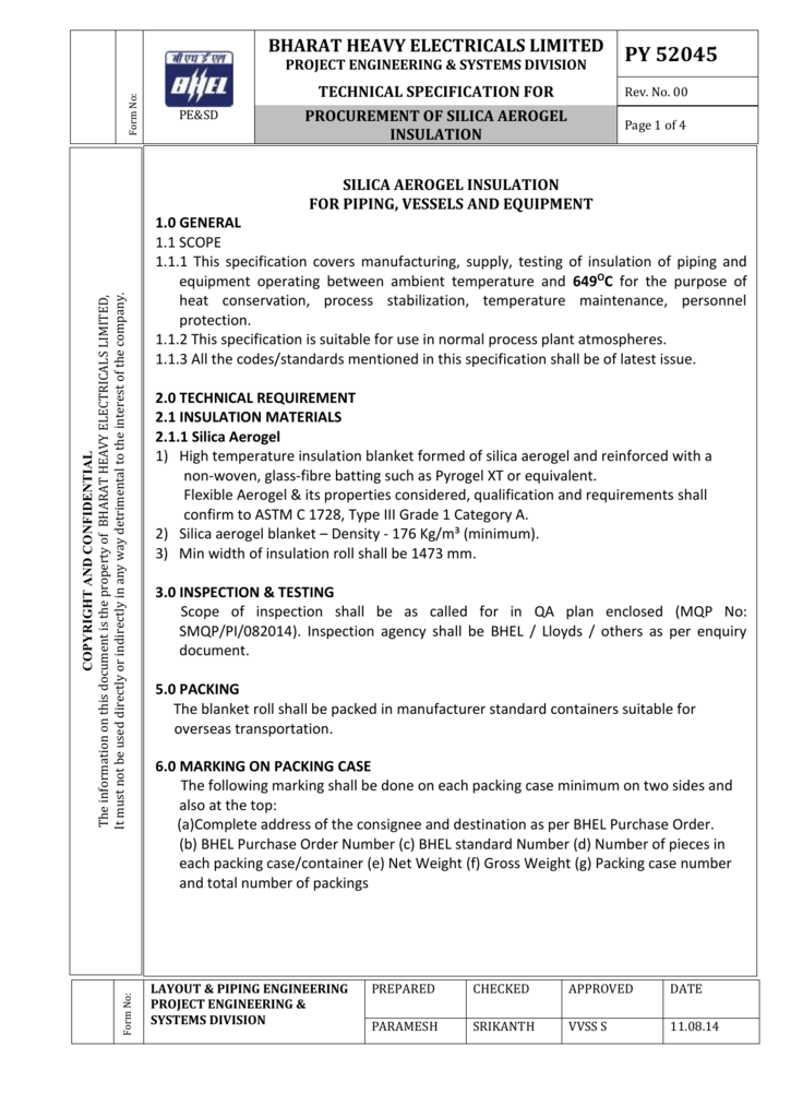 py52045_rev00-141199   - Bharat Heavy Electricals Ltd