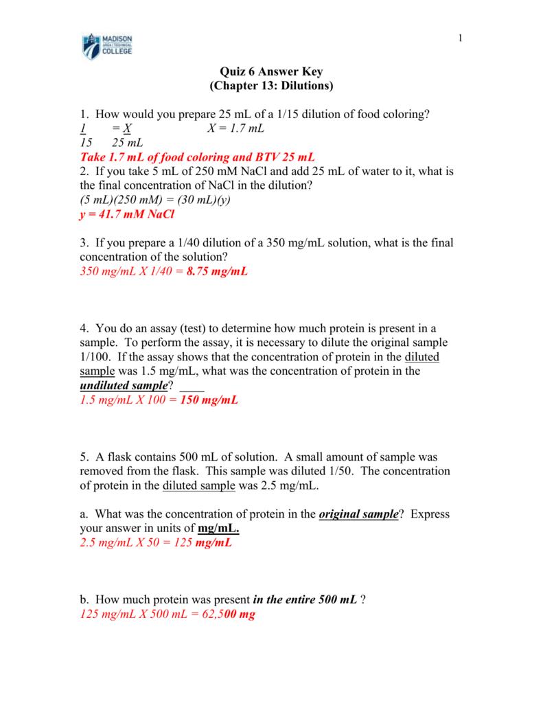 Answer Key - Bio-Link