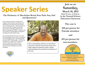 The Prehistory of MacArthur Beach State Park: Sun, Surf and