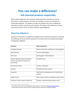 UK You can make a difference leaflet text