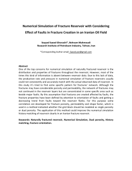 Numerical Simulation of Fracture Reservoir with