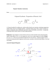 Grignard Synthesis: Preparation of Benzoic Acid