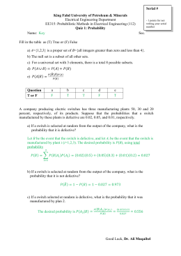 Quiz1 EE315 Set Theory and Probability Muqaibel 112 Sol
