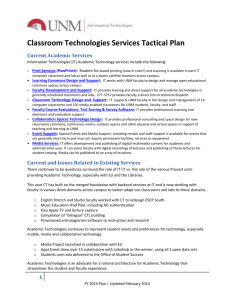 Classroom Technologies Services Tactical Plan